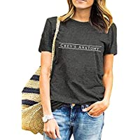 AEURPLT Greys Anatomy T Shirt Womens Teen Girls Cute Graphic Tee Tops
