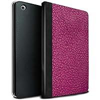 stuff4PU Book/カバーケースfor Apple iPad Mini 1/ 2/ 3タブレット/ Aquaブルー/レザーパッチ効果 MR-IPM-TSBS-MD-LEATHER-PK