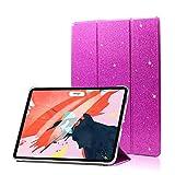 FANSONG iPad Pro 11ケース2018 レザー 軽量 薄型 三つ折スタンド 磁気吸着 オートスリープ/ウェイク機能ケース キラキラ 全面保護ペンホルダー磁気カバー アップルiPad Pro 11