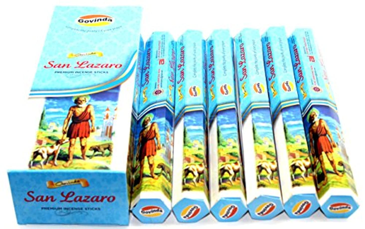 韻達成可能お互いGovinda ® Incense – San Lazaro – 120 Incense Sticks、プレミアムMasala Incense