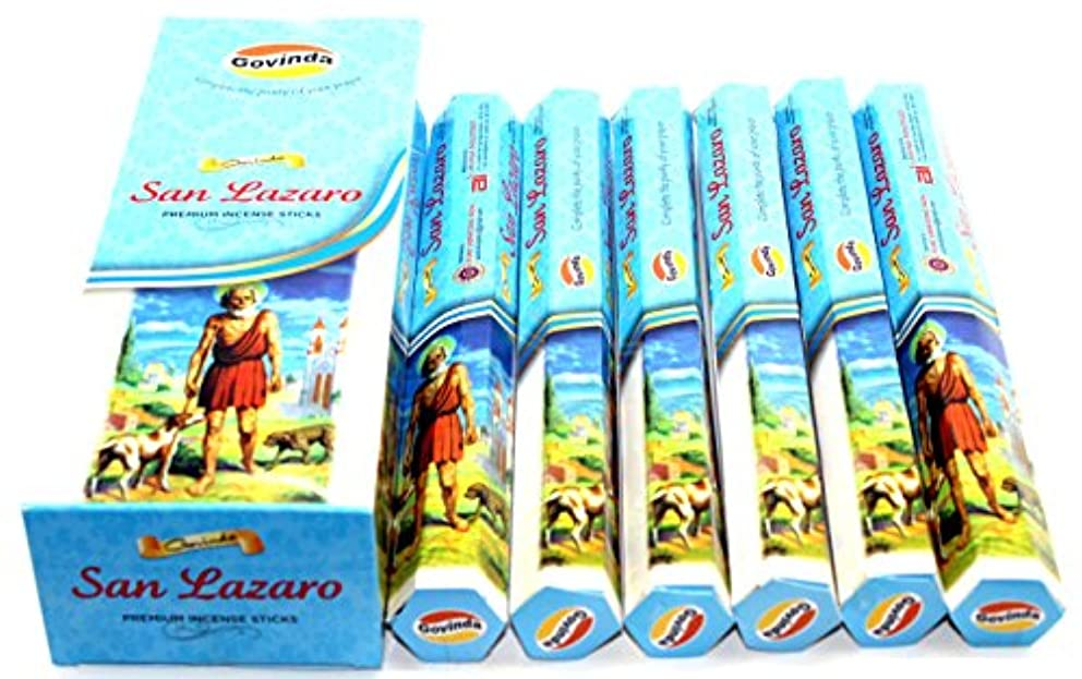 Govinda ® Incense – San Lazaro – 120 Incense Sticks、プレミアムMasala Incense