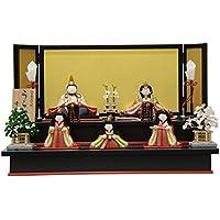 雛人形 二段飾り木目込み五人揃 うらら 幅50cm 3mk35 幸一光