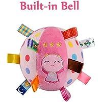Inchantラブリーエンジェルベビーリングベルボールぬいぐるみ布感覚の学習玩具玉の開発教育コットンハンドラトルボールをつかみ