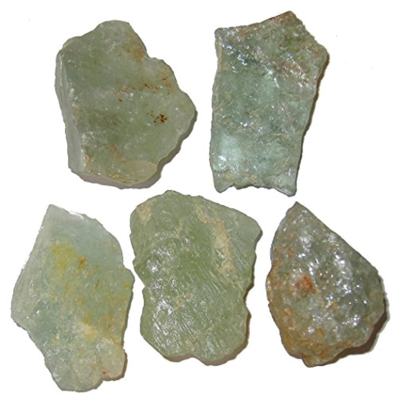 効能オフェンス光電サテンクリスタルアクアマリンRaw Gemstone 1.7 – 2.1