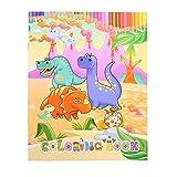 ぬりえブック 子供 落書き ぬり絵ブックドローイングブック ぬりえブック ペン 子供用 ドローイング 恐竜 クリップアート付き
