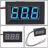 SODIAL(R) 2線ブルーのDC4.5-30V LEDデジタルの電圧計