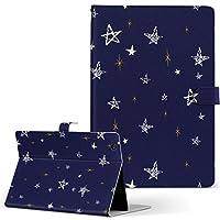 MediaPad M3 Lite 10 HUAWEI ファーウェイ タブレット 手帳型 タブレットケース タブレットカバー カバー レザー ケース 手帳タイプ フリップ ダイアリー 二つ折り その他 星 スター 模様 006537