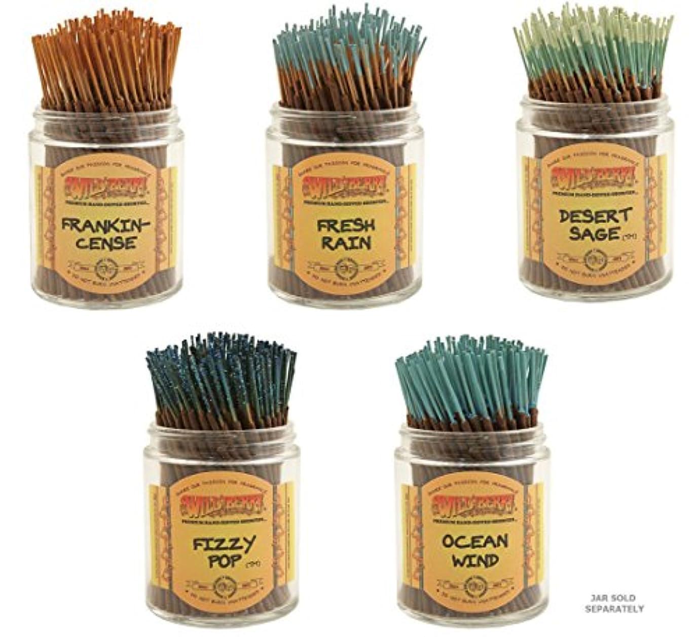 単調なびっくりした羊のWildberry Short Incense Sticks – Set of 5秋Fragrances – 砂漠セージ、Fizzy Pop , Frankincenseフレッシュ、雨、海洋風( 100各パック、合計500...