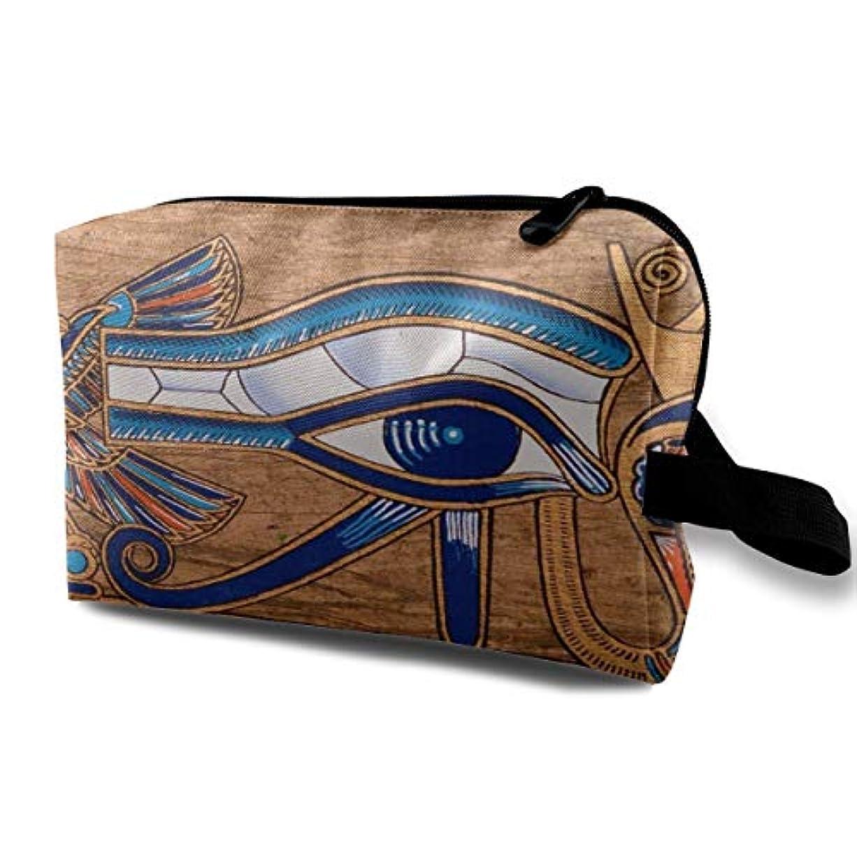 キッチン名義で予感Eye Of Horus 収納ポーチ 化粧ポーチ 大容量 軽量 耐久性 ハンドル付持ち運び便利。入れ 自宅・出張・旅行・アウトドア撮影などに対応。メンズ レディース トラベルグッズ