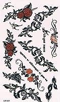 気軽にボディーアート・タトゥーシール・刺青シール(23)薔薇/ローズ