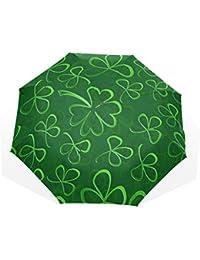 AOMOKI 折り畳み傘 折りたたみ傘 手開き 日傘 三つ折り 梅雨対策 晴雨兼用 UVカット 耐強風 8本骨 男女兼用 クローバー 草