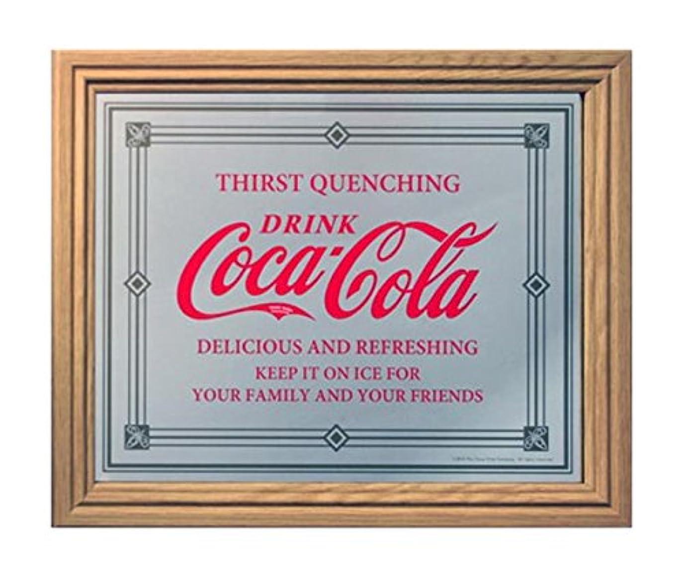 食品シャッフルもちろんコカコーラ ミラー?鏡 ミラー 46×38×2cm