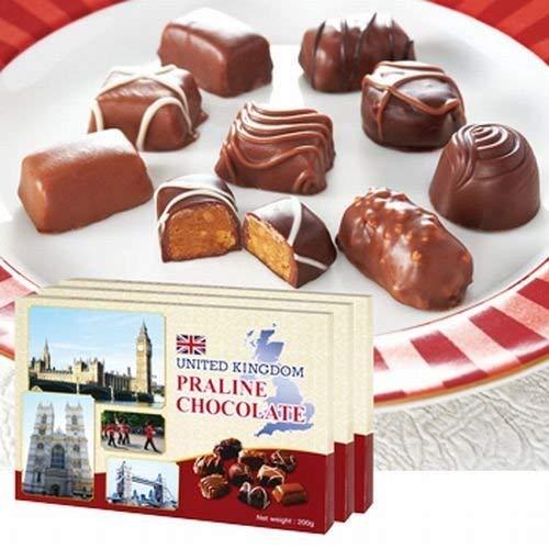 イギリス プラリネ チョコレート 3箱セット【イギリス 海外土産 輸入食品 スイーツ】