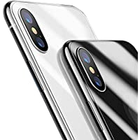 iPhone X 背面 ガラスフィルム 背面保護フィルム 9H硬度 液晶保護【日本旭硝子製】指紋防止・超薄型・気泡防止・自動吸着・ラウンドエッジ加工(2018新型) (5.8inches)