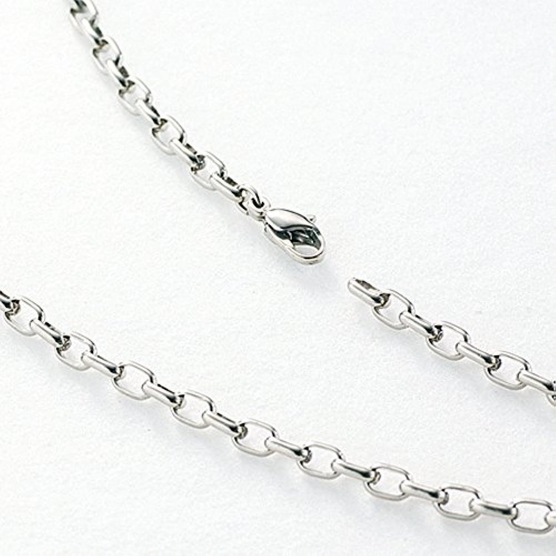チタンアクセサリー レジエ (leger) 純チタン製ネックレス(オーバルタイプ/幅4.0mm) 50cm O50F