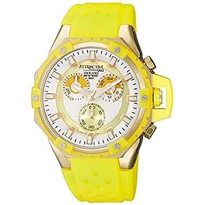 [シチズン キューアンドキュー]CITIZEN Q&Q 腕時計 ATTRACTIVE クロノグラフ ウレタンベルト 逆輸入 海外モデル イエロー DG02J181Y