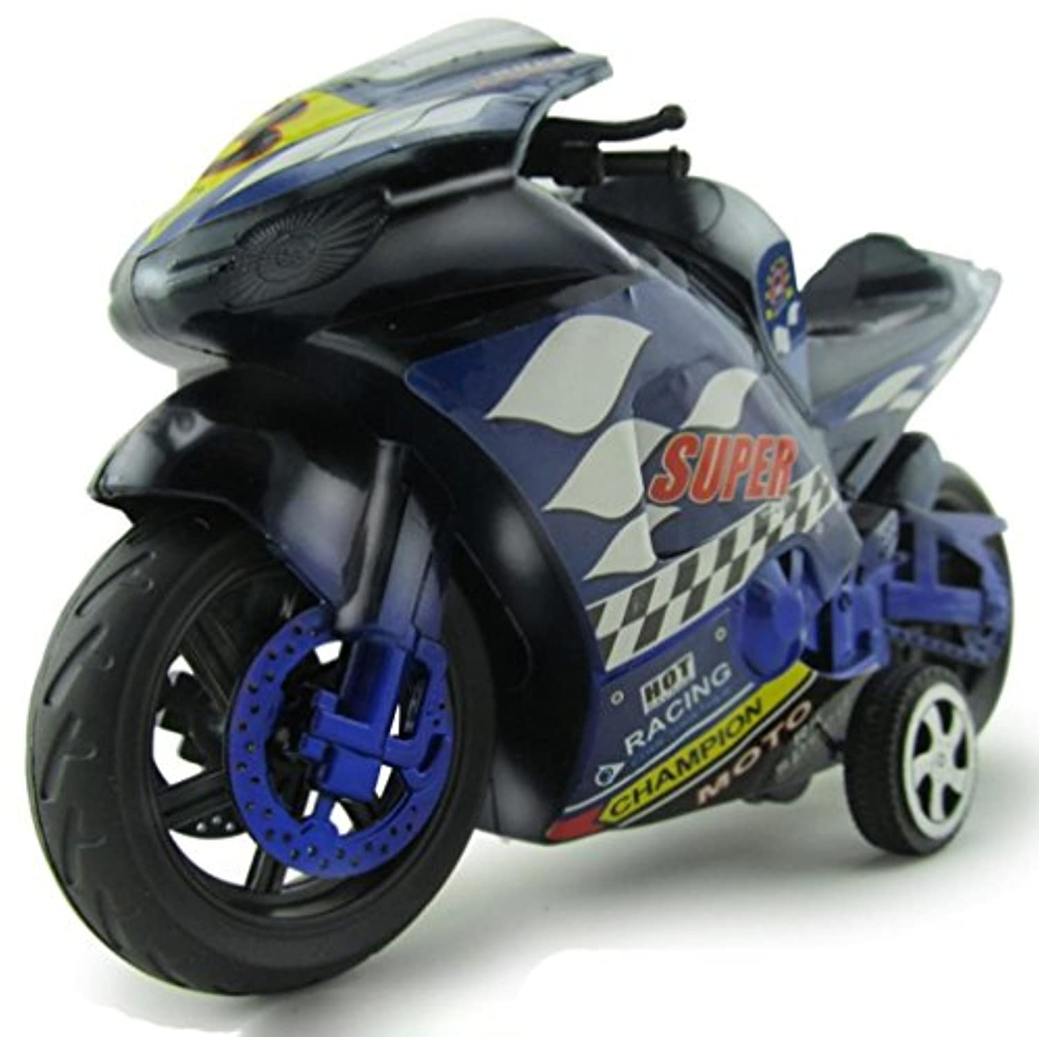 e-scenery 1 : 32 Friction Powered慣性Motorcycles With Hight速度おもちゃ子供の誕生日クリスマスプレゼントギフト(ランダムカラー)
