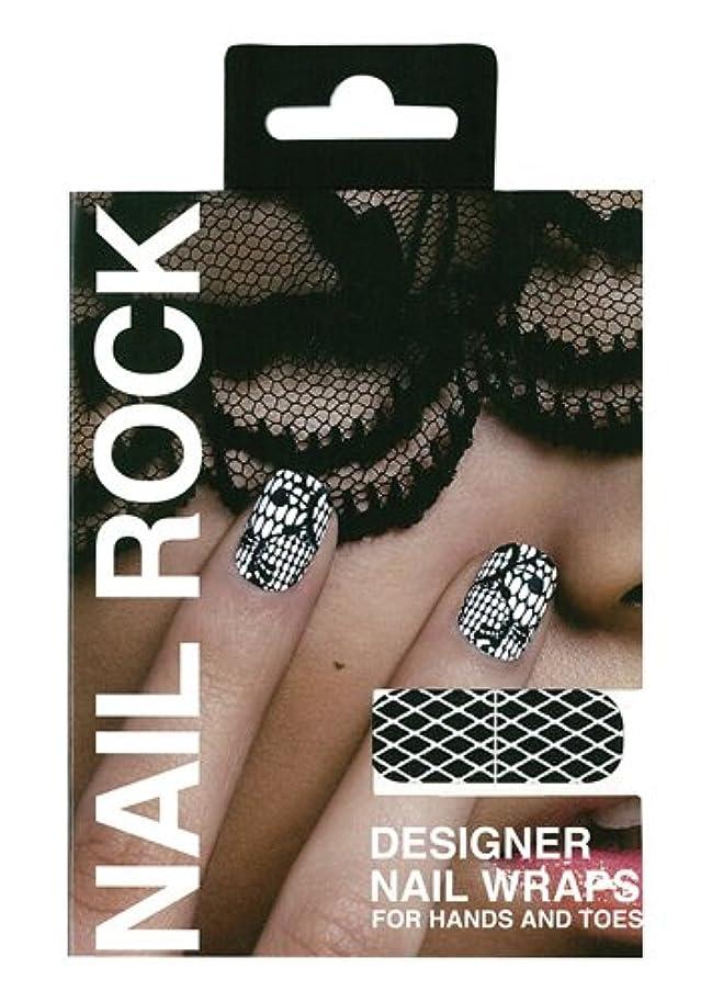 典型的なドール気質ネイルロック ブラック ダイヤモンド オン ホワイト