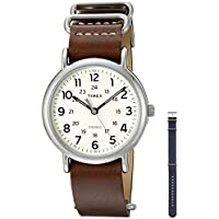 Timex Unisex TWG012500QM Weekender Watch With Two Interchangable Bands