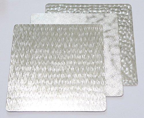 すず紙 小皿 プレート syouryu すずがみ 錫製 うつわ 13cm X 13cm 3種 コロ セット (13cm 3種・コロセット)