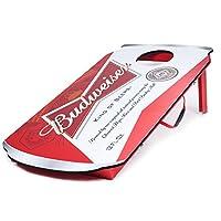 BudweiserデザインできCornhole Bean Bag Toss Gameセット–Includes 2ボーナスBeandバッグ(合計10) 。