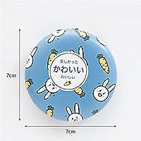 HuaQingPiJu-JP ミニラウンド漫画フルーツ動物パターン小さなガラスミラーサークル工芸装飾化粧品アクセサリー
