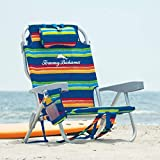 Tommy Bahama Beach Chair 2020 Backpack Cooler Chair with Storage Pouch and Towel Bar (Beach Chair - Stripes)