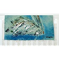 KESS InHouse Josh Serafin Drifter Blue Green Fleece Baby Blanket 40 x 30 [並行輸入品]