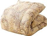 西川リビング ロシア産 ホワイトグースダウン90% 羽毛布団 シングル 日本製 ベージュ