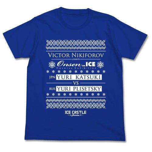ユーリ!!! on ICE 温泉 Tシャツ ロイヤルブルー XLサイズの詳細を見る