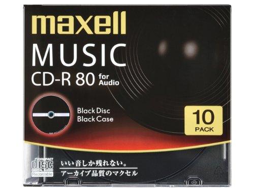 maxell 音楽用CD-R 「Black Disc Series」 80分 (10枚パック) CDRA80BK.10S
