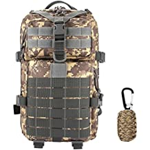 ZTHY 40L Military Tactical Rucksack with Survival Kit , Waterproof 600D Oxford fabric Outdoor Tactical Bag Shoulder Expandable Hunting Tactical Daypack & Sport Casual Backpack for Camping Trekking Travel Hunting