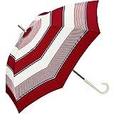 ワールドパーティー(Wpc.) 雨傘 長傘 レッド 58cm レディース クラシックボーダー 89259-09 RD