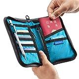 サンワダイレクト パスポートケース 11ポケット 航空券対応 トラベル オーガナイザー Mサイズ グレー 200-BAGIN003GY