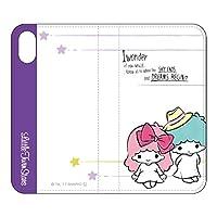 グルマンディーズ iPhone X(5.8インチ) ケース フリップカバー サンリオキャラクターズ キキ&ララ/Aタイプ san-763tsa