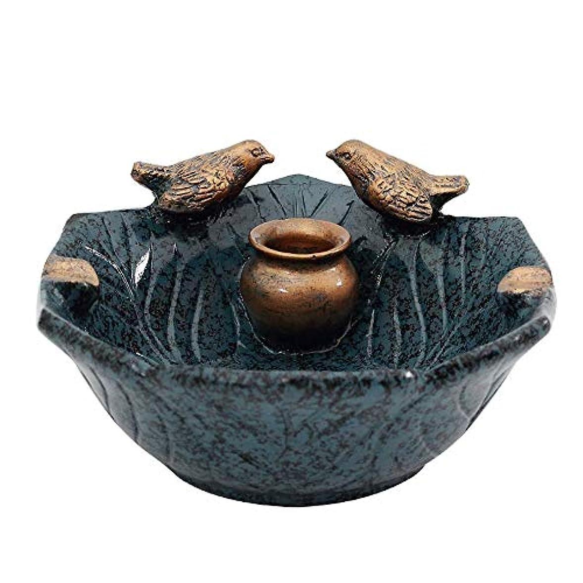 酔っ払い追跡ハンマータバコ、ギフトおよび総本店の装飾のための灰皿丸い光沢のある灰皿(青)