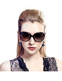 DUCO女性のスタイリッシュな偏光サングラス スター グラス 100% uv プロテクション 2229