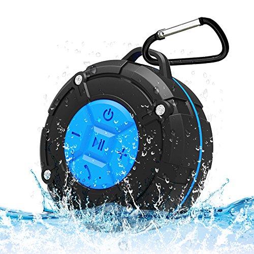 スピーカー防水 Bluetooth4.2 ワイヤレススピーカー BackTure 吸盤式 お風呂 スポーツ 室内 アウトドア 車載用 iphone Android ipod iPad対応 防水 防塵 ハンズフリー通話 マイク搭載 日本語説明書付属(ブルー)