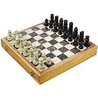 セットof 24 – Indianハンドメイドストーンと木製チェスセット – ユニークなギフト子供と大人