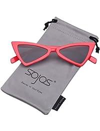 SojoS ソホス 猫目 女性向け レディース サングラス 小さい ちょう結び 三角形 レンズ メガネ SJ2051