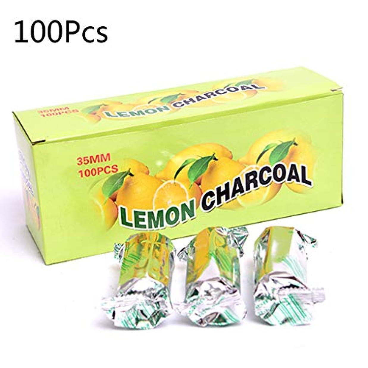 バッグ予見する家庭Baoyouls 100pcs / boxレモン風味シーシャ水ギセル炭クイックライティングバーニングカーボン