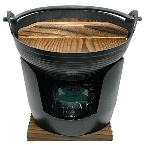 ニチネン 固形燃料コンロ用 一人鍋 15cm丸鍋全部セット