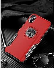 i Phone XRリング式TPUケースレッド強化ガラス&タッチペン付き362-2-1