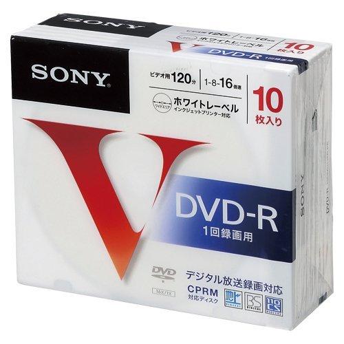 ソニー 録画用DVD-R 1-16速/4.7GB 10枚パック 10DMR12MLPS