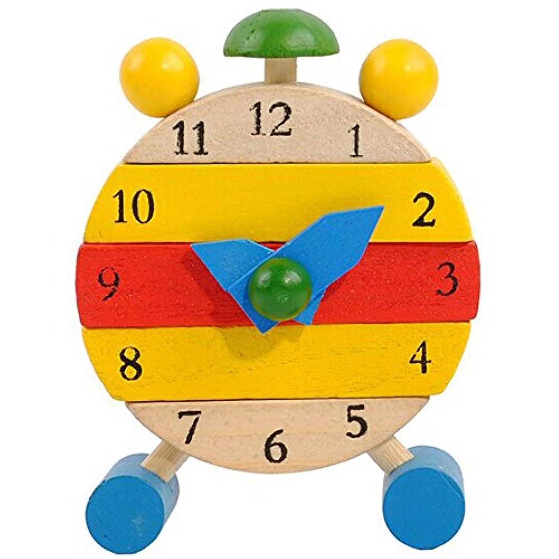 Wffo ハンドメイド 木製時計 おもちゃ キッズ 学習時間時計 教育玩具 Wffo - toy