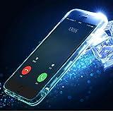iPhone6 plus ケース iPhone6s plus ケース 5.5インチ 着信で光る クリア TPUケース LED フラッシュ機能 耐衝撃 ケース(クリア-iphone6 plus/6s plus)