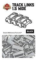 【150個セット】ブリックマニア・トラックリンク:1.5ワイド レゴカスタムキット LEGOカスタムパーツ アーミー 装備品 武器 (ブラック)
