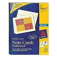 CARD,NOTE,INKJT,60/BX,IVY