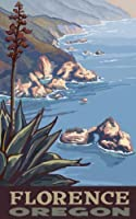Northwest Art Mall Florence Oregon Coast Line フレームなしプリント Paul A Lanquist作、27.94cm×43.18cm