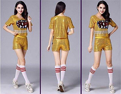 [해외](마리아) MARIAH 힙합 연출 의류 여성 패션 캐주얼   반짝이 탑 지퍼 자켓 댄스 의상/(Maria) MARIAH Hip Hop Directorial Clothing Women`s Fashion Casual   Glitter Tops Fastener Jacket Dance Costume